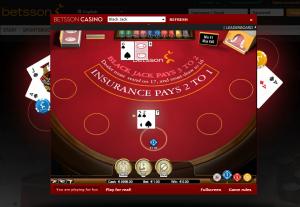 Blackjack  Betsson Casino