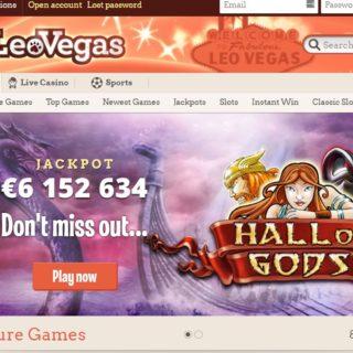 Leovegas homepage