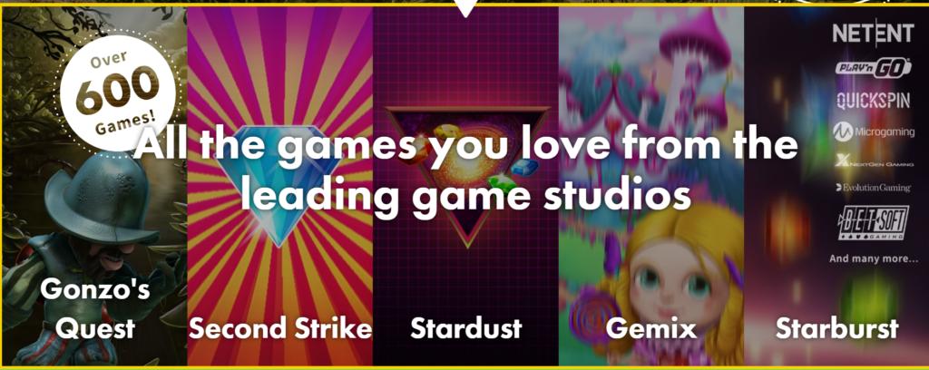 Speel meer dan 600 games bij Dunder Casino