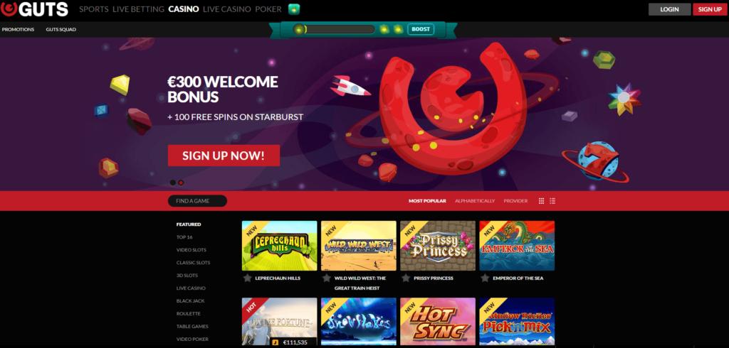 Guts casino games