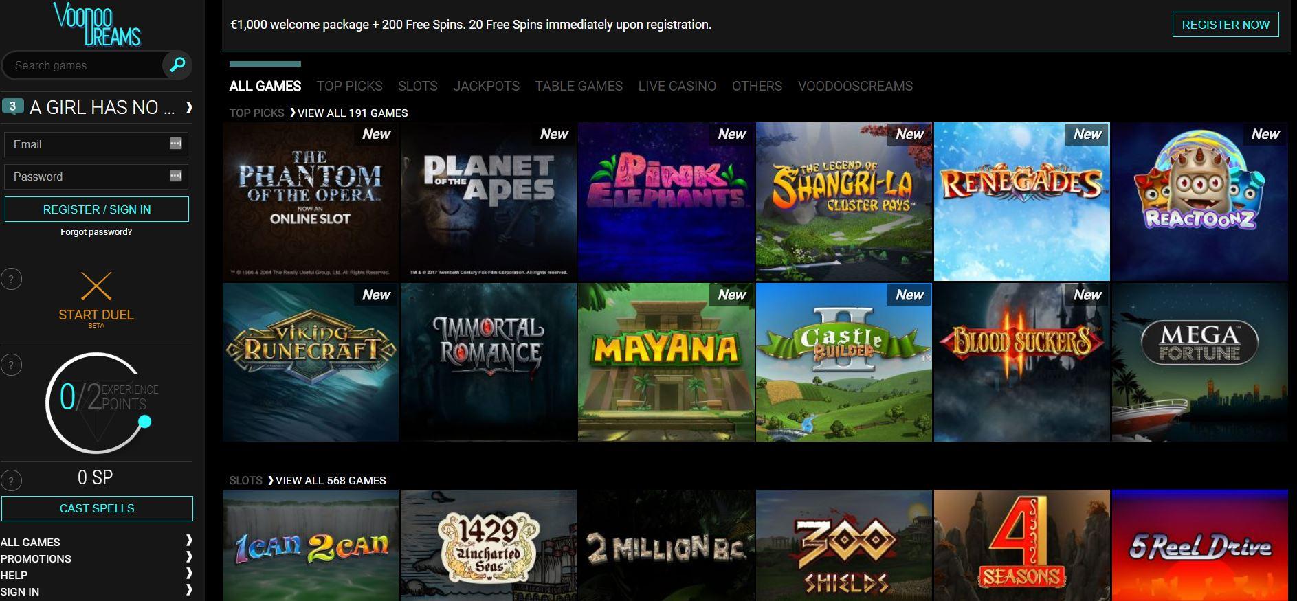 voodoodreams online casino