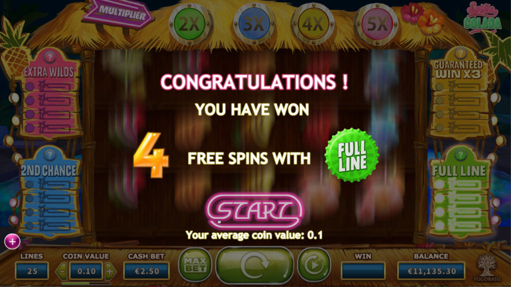 Free Spins Spina Colada