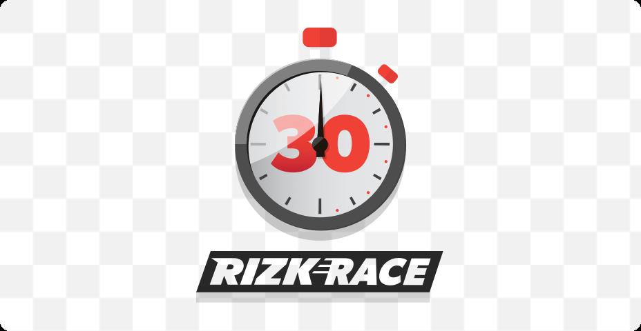 Elke 30 minuten een rizk race