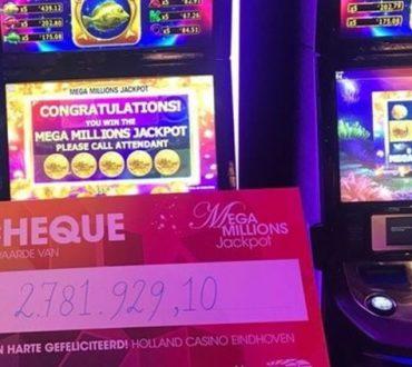 Mega Millions Jackpot speelautomaat in het Eindhovense Holland Casino