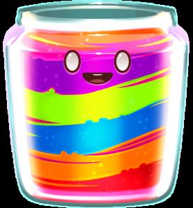Wild Symbool in de gokkast Jammin' Jars: de regenboog